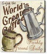 Cream Coffee 1 Acrylic Print