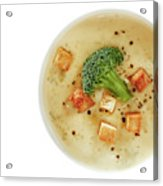 Cream Of Broccoli Soup Acrylic Print