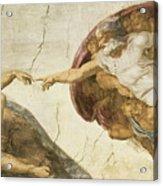 Creation Of Adam Acrylic Print by Michelangelo Buonarroti