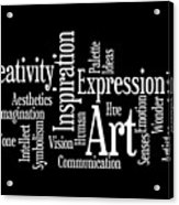 Creativity Art Inspiration Acrylic Print