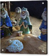 Creche Kings Acrylic Print by Nancy Griswold