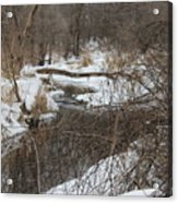 Creek Winding Through The Snow Acrylic Print