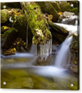 Creek With Icicles Acrylic Print