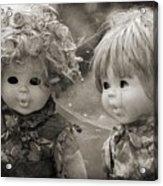 Creepy Dolls Acrylic Print by Ankeeta Bansal