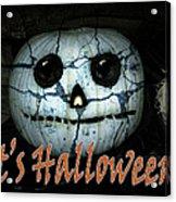 Creepy Halloween Pumpkin Acrylic Print