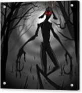 Creepy Nightmare Waiting In The Dark Forest Acrylic Print
