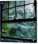 Creepy Old Window Acrylic Print