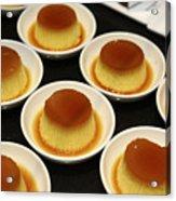 Creme Caramel Dessert Acrylic Print