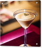 Creme Caramel Martini Cocktail In Bar Acrylic Print