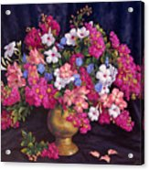 Crepe Myrtle And Roses  Acrylic Print