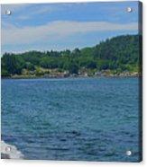 Crescent Beach Center Panoramic Acrylic Print