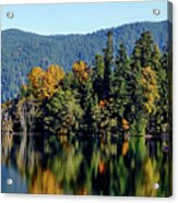 Crescent Lake Fall Colors Acrylic Print