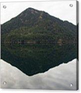 Crescent Lake Reflection Acrylic Print