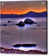 Crescent Moon Above Tahoe Acrylic Print
