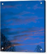 Crescent Moon At Sundown Acrylic Print