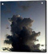 Crescent Moon Over A Storm Cloud Acrylic Print