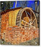 Crescent Moon Ranch Water Wheel Acrylic Print