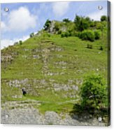 Cressbrook Dale Opposite To Tansley Dale Acrylic Print