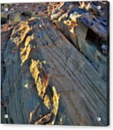 Crest Of Sandstone Wave At Sunset In Valley Of Fire Acrylic Print