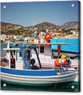 Crete Fishing Boats Acrylic Print