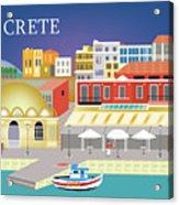 Crete Greece Horizontal Scene Acrylic Print
