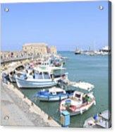 Crete Island Harbour  Acrylic Print