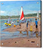 Cricket And Red And White Sail Acrylic Print