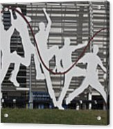 Cricket Art Sculpture Southampton Acrylic Print