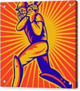 Cricket Sports Batsman Batting Acrylic Print