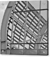 Cricket Stadium Architecture Black And White Acrylic Print