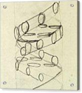 Cricks Original Dna Sketch Acrylic Print