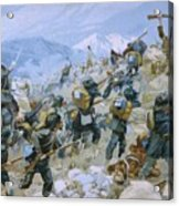 Crimean War And The Battle Of Chernaya Acrylic Print by Italian School