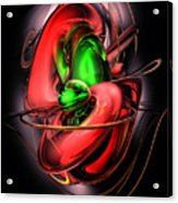 Crimson Affection Abstract Acrylic Print