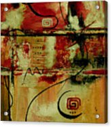 Crimson And Copper Acrylic Print