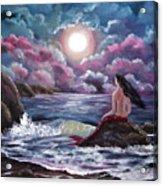 Crimson Mermaid Acrylic Print