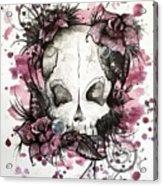 Crimson Skull Acrylic Print