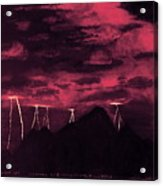 Crimson Storm Acrylic Print