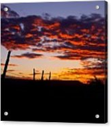 Crimson Sunrise  Acrylic Print