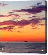 Crimson Yachting  Acrylic Print