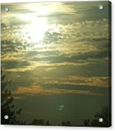 Crinkled Forehead Lines In The Sky Acrylic Print