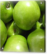 Crispy Green Apples From The Farmers Market Acrylic Print