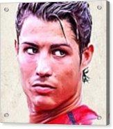 Cristiano Ronaldo Acrylic Print by Wu Wei