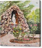 Crockett California Saint Rose Of Lima Church Grotto Acrylic Print