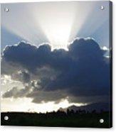 Crocodile Clouds Sunrays And Mt Bartle Frere Fnq  Acrylic Print