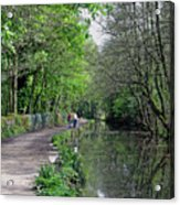 Cromford Canal - Tree Lined Walk Acrylic Print
