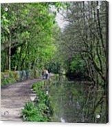 Cromford Canal - Tree Lined Walk Acrylic Print