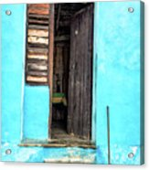 Crooked Blue Acrylic Print