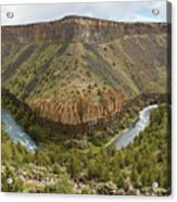 Crooked River Gorge Acrylic Print