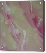 Crop Circles In Pink And Green Acrylic Print