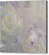 Crop Circles In Purple And Green Acrylic Print